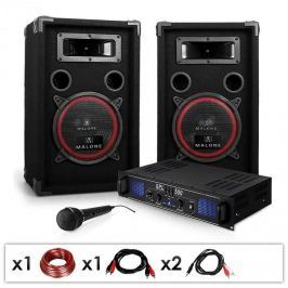"Electronic-Star DJ PA set ""DJ-14"", PA zesilovac, reproduktory, 1000 W"