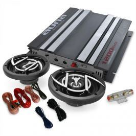 Auna Auto Hifi set Platin Line 200, zesilovač, repro, 1200W