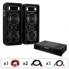"""Electronic-Star DJ set """"DJ-24"""", PA zesilovač, repro, kabel, 1200W"""