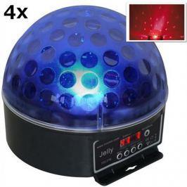 """4x DJ koule """"Beamz Magic Jelly"""" LED světelný efekt, RGB, DMX"""