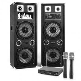 "Electronic-Star Karaoke Set ""STAR-210A"" PA reproduktory, bezdrátový mikrofon, 1200W"
