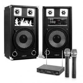 "Electronic-Star Karaoke Set ""STAR-10 A"" PA reproduktory, bezdrátový mikrofon, 600W"