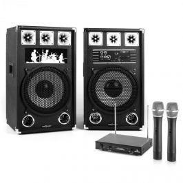 "Electronic-Star Karaoke Set ""STAR-12A"" PA reproduktory, bezdrátový mikrofón, 800W"