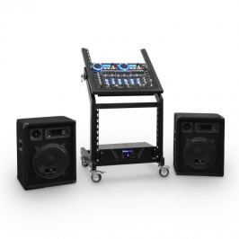 Ibiza DJ reproduktorový set Rack Star Uranus Blues 100 lidí