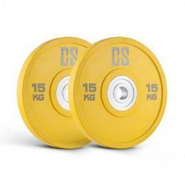 CAPITAL SPORTS Performance Urethane Plates, žluté, 15 kg, pár kotoučových závaží