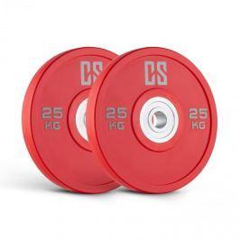 CAPITAL SPORTS Performan Urethane Plates, červené, 25 kg, pár kotoučových závaží