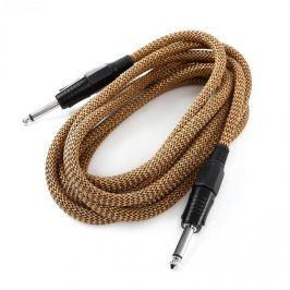FrontStage 6,35mm jack kabel, 3 m, černo-zlatá, sada tří kabelů, textilní izolace