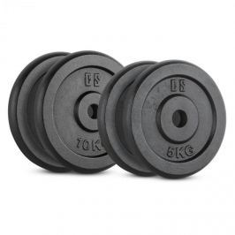 CAPITAL SPORTS IPB 30 kg Set, sada závaží na činky, 2x 5 kg + 2x 10 kg, 30 mm