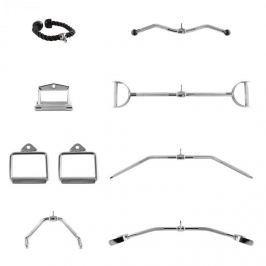 CAPITAL SPORTS Mastergym, kladkový set, 7 adaptérů na kladku, ocel, nylon