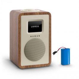 Numana Mini One Design digitální rádio bluetooth DAB + FM AUX ořech včetně nabíjecí baterie