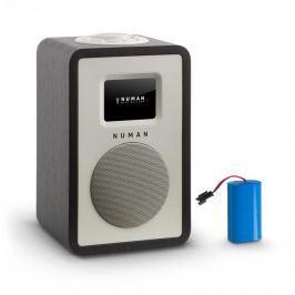 Numana Mini One Design digitální rádio bluetooth DAB + FM AUX černá barva včetně nabíjecí baterie