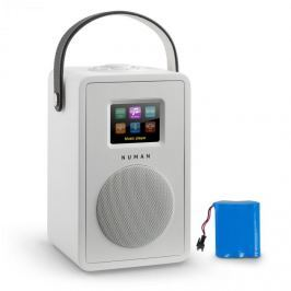 Numana Mini Two Design internetové rádio Wi-Fi DLNA bluetooth FM bílá včetně nabíjecí baterie