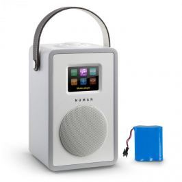 Numana Mini Two Design internetové rádio Wi-Fi DLNA bluetooth FM šedá včetně nabíjecí baterie