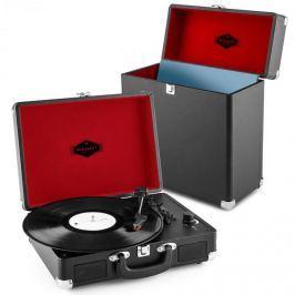Auna Peggy Sue Record Collector Set black | retro gramofon | kufřík na gramofonové desky