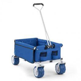 Waldbeck The Blue, modrý, ruční vozík, skládací, 70 kg, 90 l, kola: 10 cm