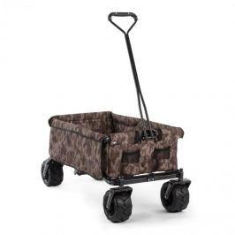 Waldbeck The Blue, maskáčový, ruční vozík, skládací, 70 kg, 90 l, kola: 10 cm