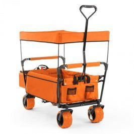 Waldbeck The Orange Supreme, ruční vozík, skládací, 68 kg, stříška proti slunci