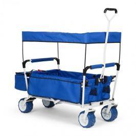 WWaldbeck The Blue Supreme, ruční vozík, skládací, 68 kg, stříška proti slunci