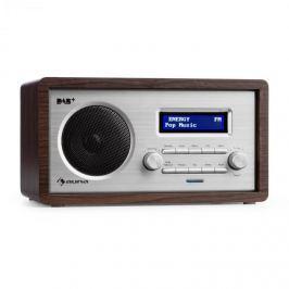 Auna Harmonica DAB + / FM RÁDIO DUÁLNÍ ALARM AUX LCD DŘEVĚNÁ KONSTRUKCE WENGE