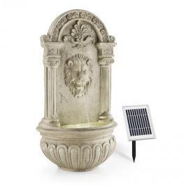Blumfeldt Lowenstein NÁSTĚNNÁZAHRADNÍ FONTÁNA SOLAR 2W LED Polyresin design KAMENE