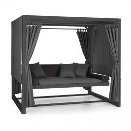 Blumfeldt Eremitage luxusní houpačka 236x180x210cm tmavě šedá / černá