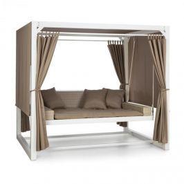 Blumfeldt Eremitage luxusní houpačka 236x180x210cm bílá/hnědošedá