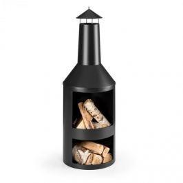 Blumfeldt Westeros zahradní pec, zahradní kamna, na dřevo, ø 45 cm, ocelový plech, černá
