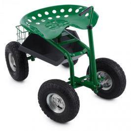 Waldbeck Park Ranger, zelená, zahradní sedačka, 130 kg, pojízdná, odkládací prostor, ocel