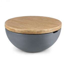 Blumfeldt Port Blockhouse Lounge betonový stůl/ zahradní stůl kulatý 80x40cm (ØxV)