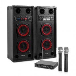 Electronic-Star Karaoke set STAR-Wedding, reproduktory, 2 bezdrátové mikrofony, 600 W