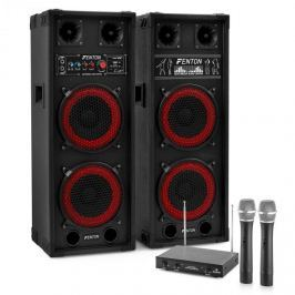 """Electronic-Star Karaoke Anlage """"STAR-Köpenick"""" PA-Boxen 800W   2-Kanal-VHF-Funk-Mikrofon-Set"""