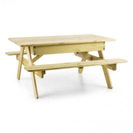 Blumfeldt Zaubersand dětský piknikový stůl, hrací stůl, pískoviště, pravé borovicové dřevo