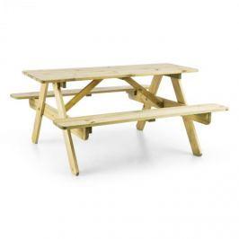 Blumfeldt Picknickerchen dětský piknikový stůl, hrací stůl, pravé borovicové dřevo