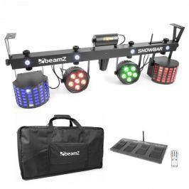 Beamz Showbar 2X PAR 2X BUTTERFLY R / G-LASERvčetně pedálovéhospínače a dálkového ovládání