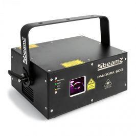 Beamz PANDORA 600, LASEROVÝ EFEKT,Sound active, TTL RGB, MIC, ILDA, MASTER / SLAVE, 400 MW