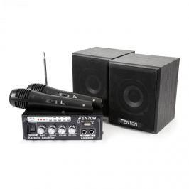 Fenton AV380BT KARAOKE SET SE ZESILOVAČEM, USB, SD, BT, 2X REPRODUKTOR, 2X MIKROFON