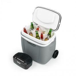 Auna Picknicker Trolley Music Cooler, chladicí box, kufříkový, 36 l, bt reproduktor, šedá barva