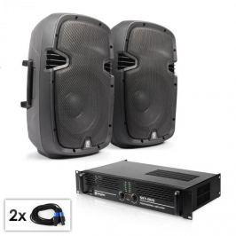 "Electronic-Star PA set ""SPJ boom 10MKII"" pár 25cm reproduktorů & zesilovač 800 W"
