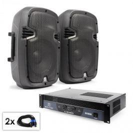 """Electronic-Star PA set """"SPJ Boom 10"""" pár 25cm reproduktorů, zesilovač, 800 W"""