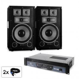 "Electronic-Star PA set série Saphir ""Warm up party TX10"" pár 25cm reproduktorů & zesilovač 120 W"