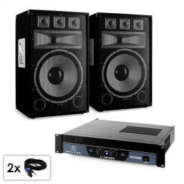 "Electronic-Star PA set série Saphir ""Warm Up Party TX15"" pár 38cm reproduktorů & zesilovač 200"