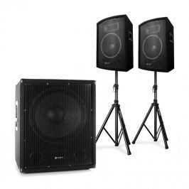 """Electronic-Star 2.1 aktivní PA DJ set s Bi-Amp subwoofer párem 10"""" reproduktorů"""