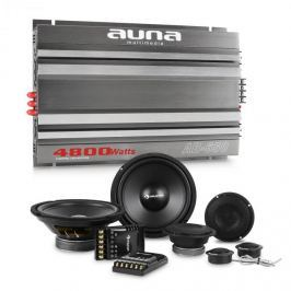 Auna CS Comp 8, HiFi sestava do auta, sada reproduktorů / 6kanálový koncový zesilovač