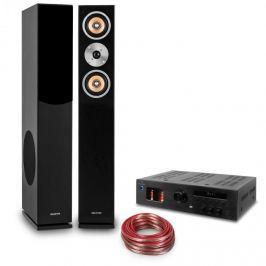 """Auna """"Music Glow"""", HiFi sestava, 2 sloupové reproduktory + HiFi elektronkový zesilovač + kabel"""