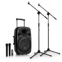 """Auna Streetstar 12 mobilní PA-zařízení sada mikrofonních stojanů 12 """"PA-zařízení 2 x mikrofon"""