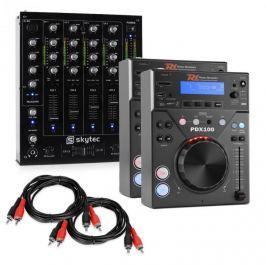 """Electronic-Star Electronic Star """"CD DJ Starter"""", DJ set, 4kanálový mixážní pult"""