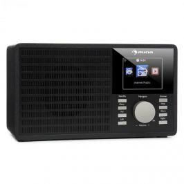 """Auna IR-160, internetové rádio, WLAN, USB, AUX, UPnP, 2,8 """"TFT displej, dálkové ovládání, černá"""
