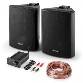 Skytec Bluetooth Play BK, PA HiFi set, dva reproduktory, mini zesilovač s bluetooth, kabel