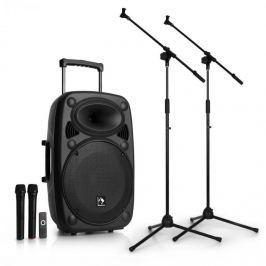 Auna Streetstar 15 mobilní PA-zařízení 2 x mikrofonní stojan sada 15 ''