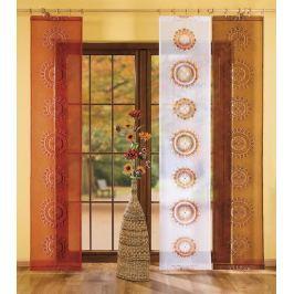 Forbyt  Závěsový panel s dekorem AZTÉK 60 x 245 cm hnědá